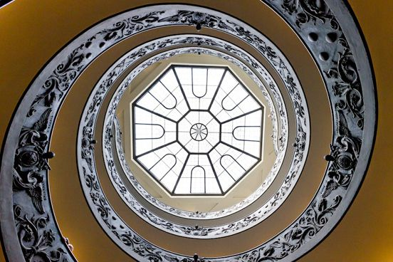Vatican Stairs Bottom Up
