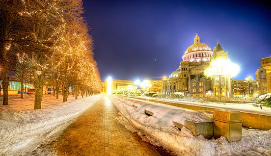 A Chilly Night in Boston