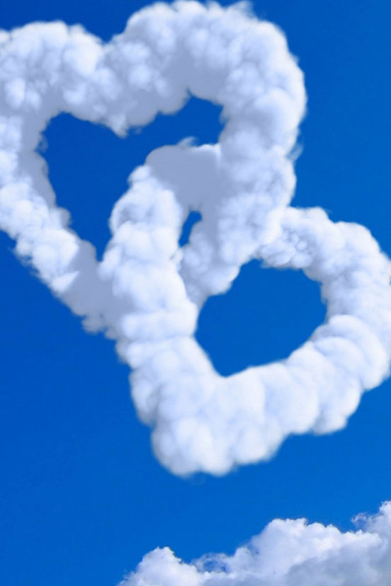 Clouds Hearts Love