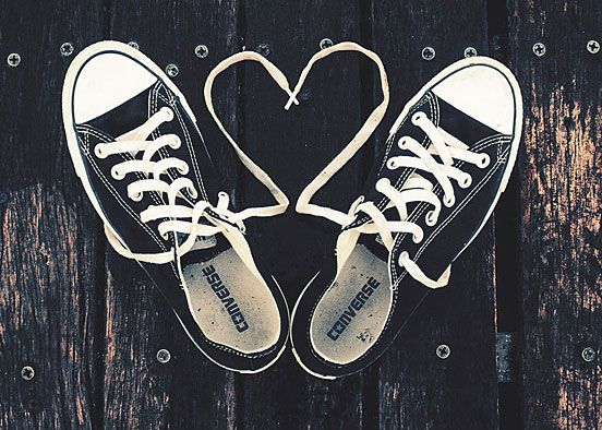 Converse Hearts Love Shoes