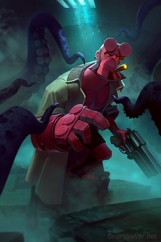 HellBoy Tentacle Time!