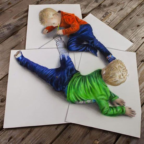 Stunning 3D Pencil Drawings